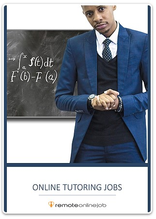 Online tutoring jobs: a tutor standing in front of a black board