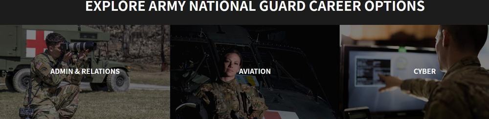 Army national guard career examples
