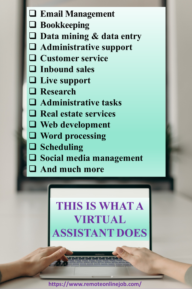 What you can do as a VA. Examples of task done by a virtual assistant.