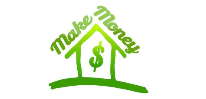 Sign showing make money