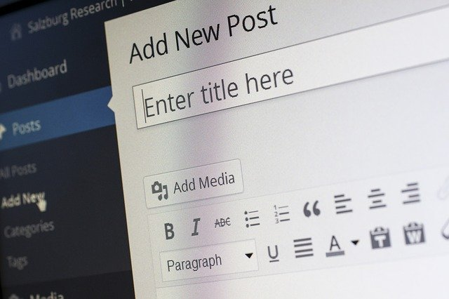 Image of computer screen in blog post editor