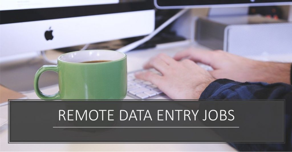 Data Entry Jobs From Home: Man typing on a computer in home office