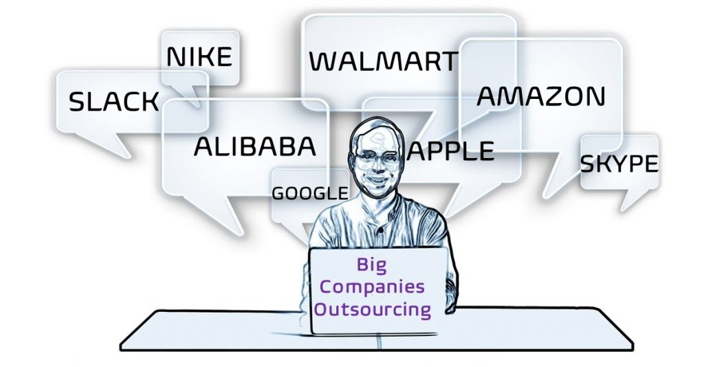 Examples of big companies that outsource part of their tasks