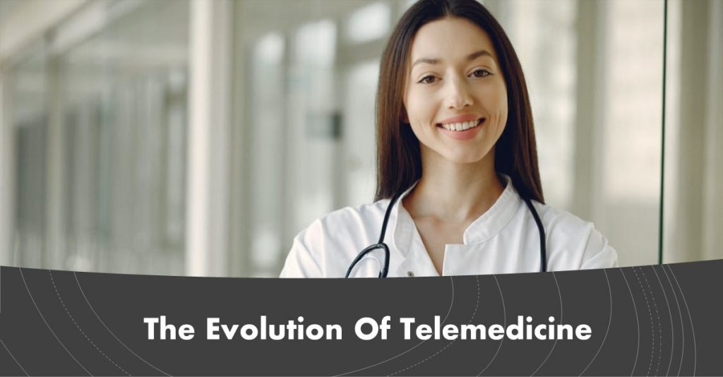 Image of young female practitioner that promote telemedicine