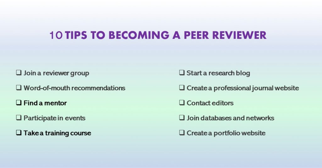 Best tips and tricks to becoming a peer reviewer